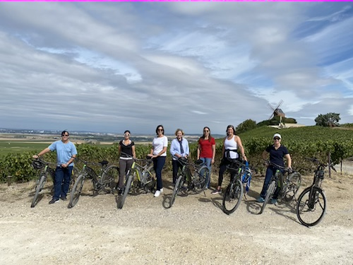Cycling and tasting in Champagne