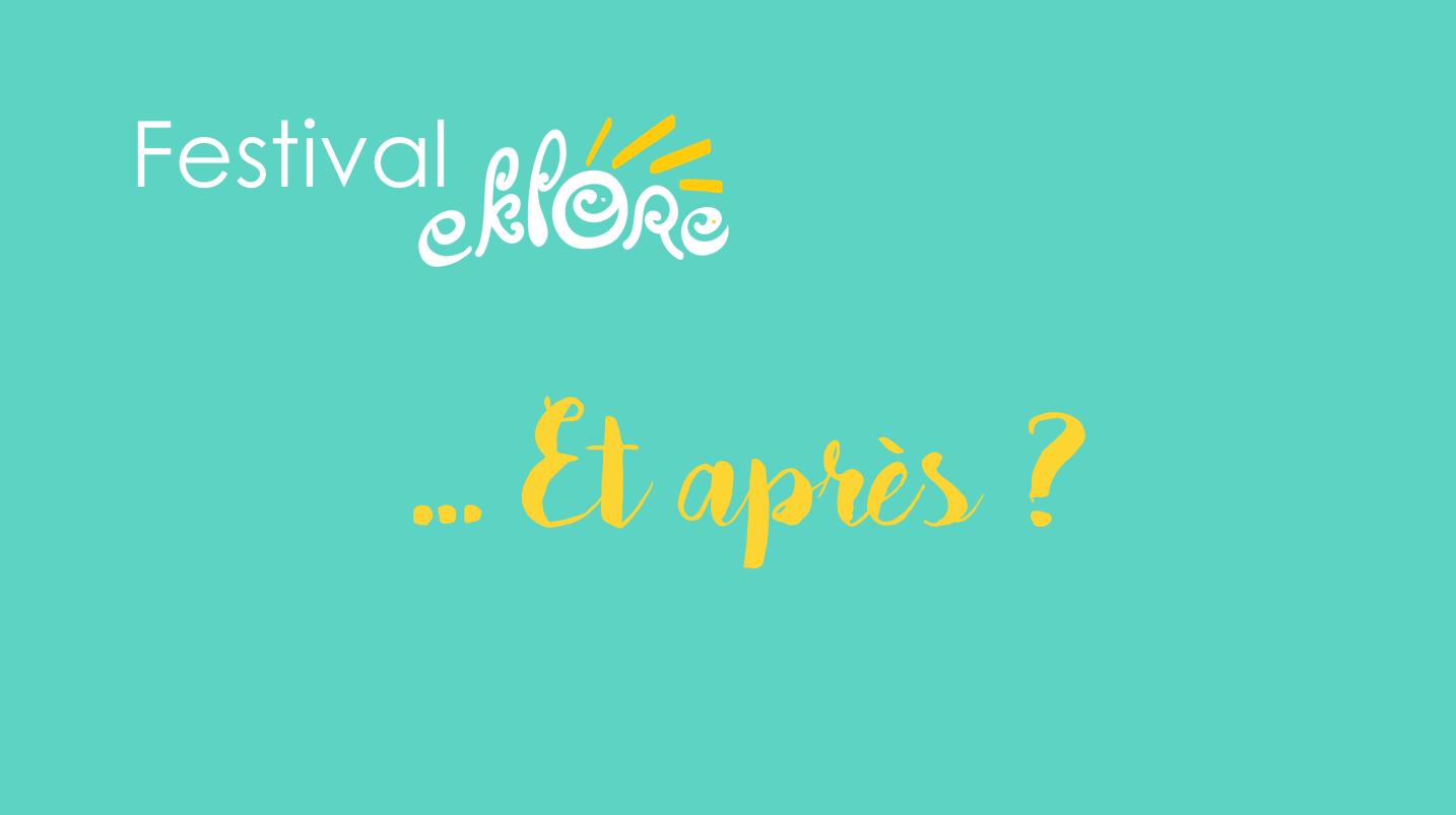 Débriefing Festival Eklore 2019