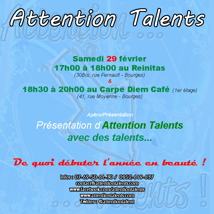 Apéro-Présentation d'Attention Talents