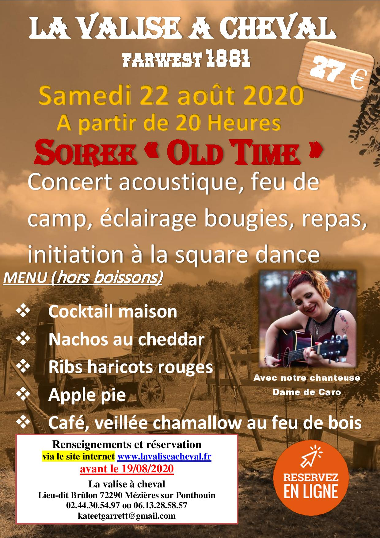 Soirée Old samedi 22 août 2020