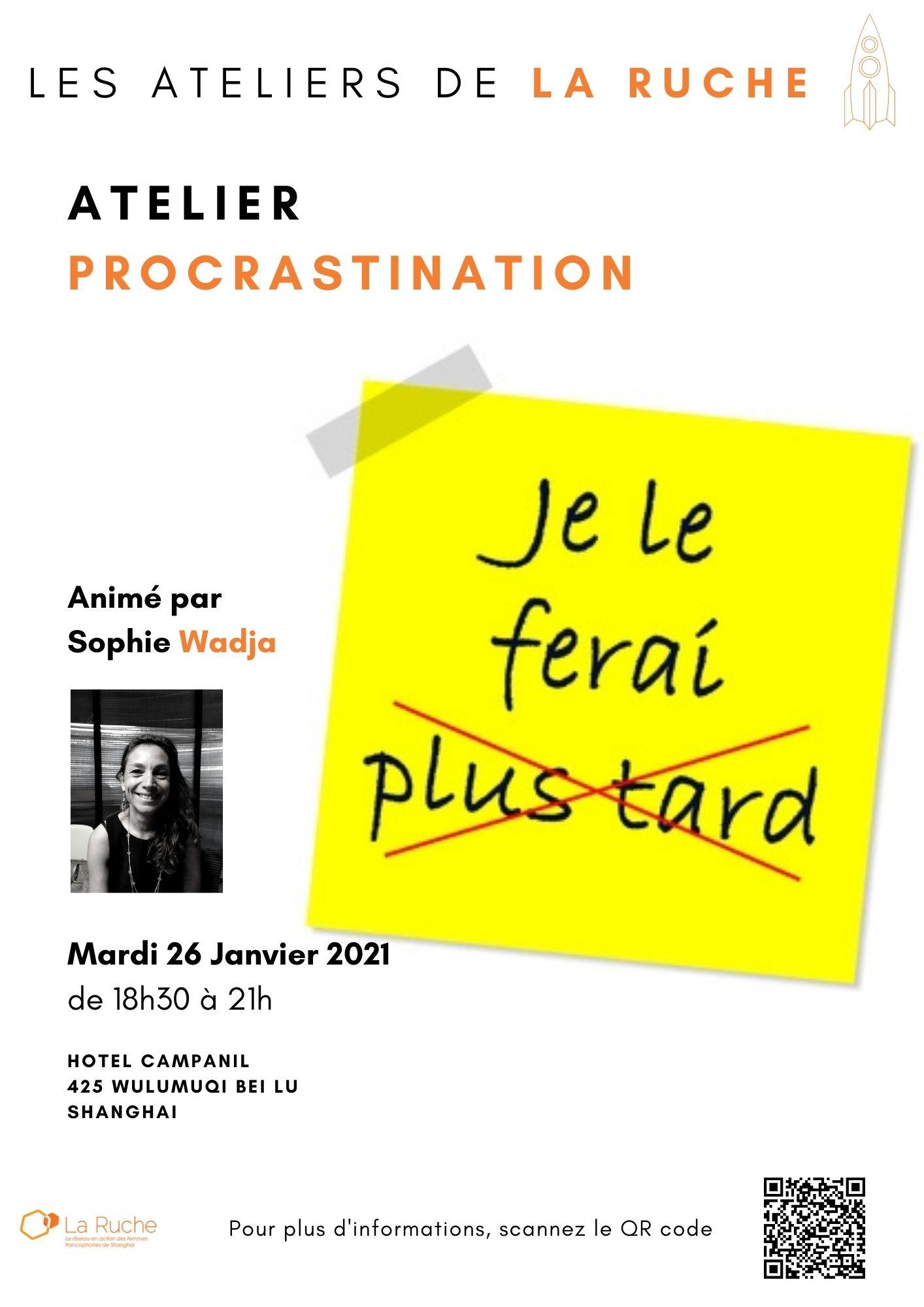 Mardi 26 Janvier - Atelier Procrastination