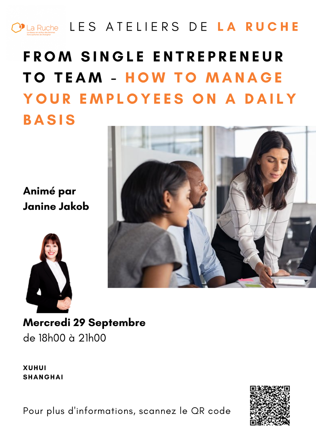 Mercredi 20 Octobre - From single entrepreneur to team - How to manage your employees on a daily basis