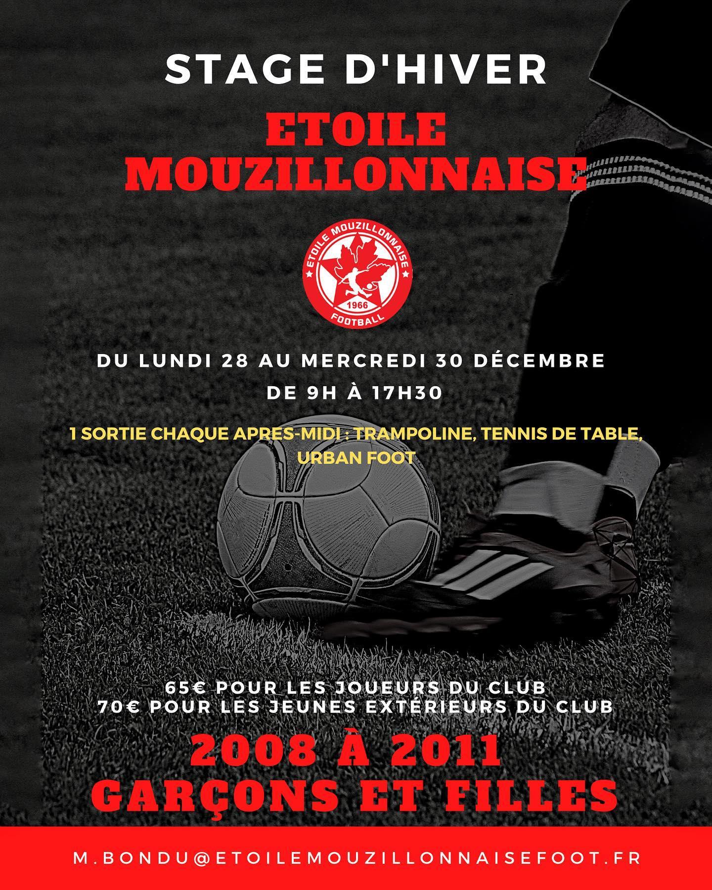 Stage de Noël Etoile Mouzillon Foot