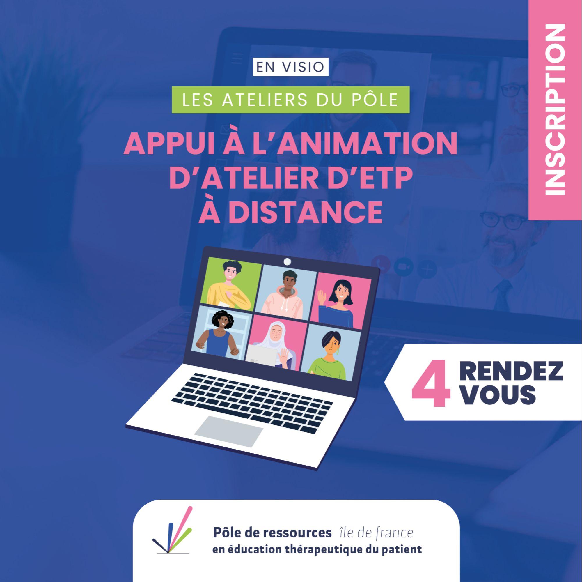 Appui à l'animation d'atelier d'ETP à distance- 4 séances