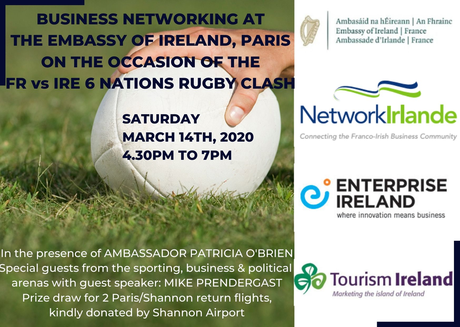 FR VS IRE 6 NATIONS : PRE-MATCH BUSINESS NETWORKING