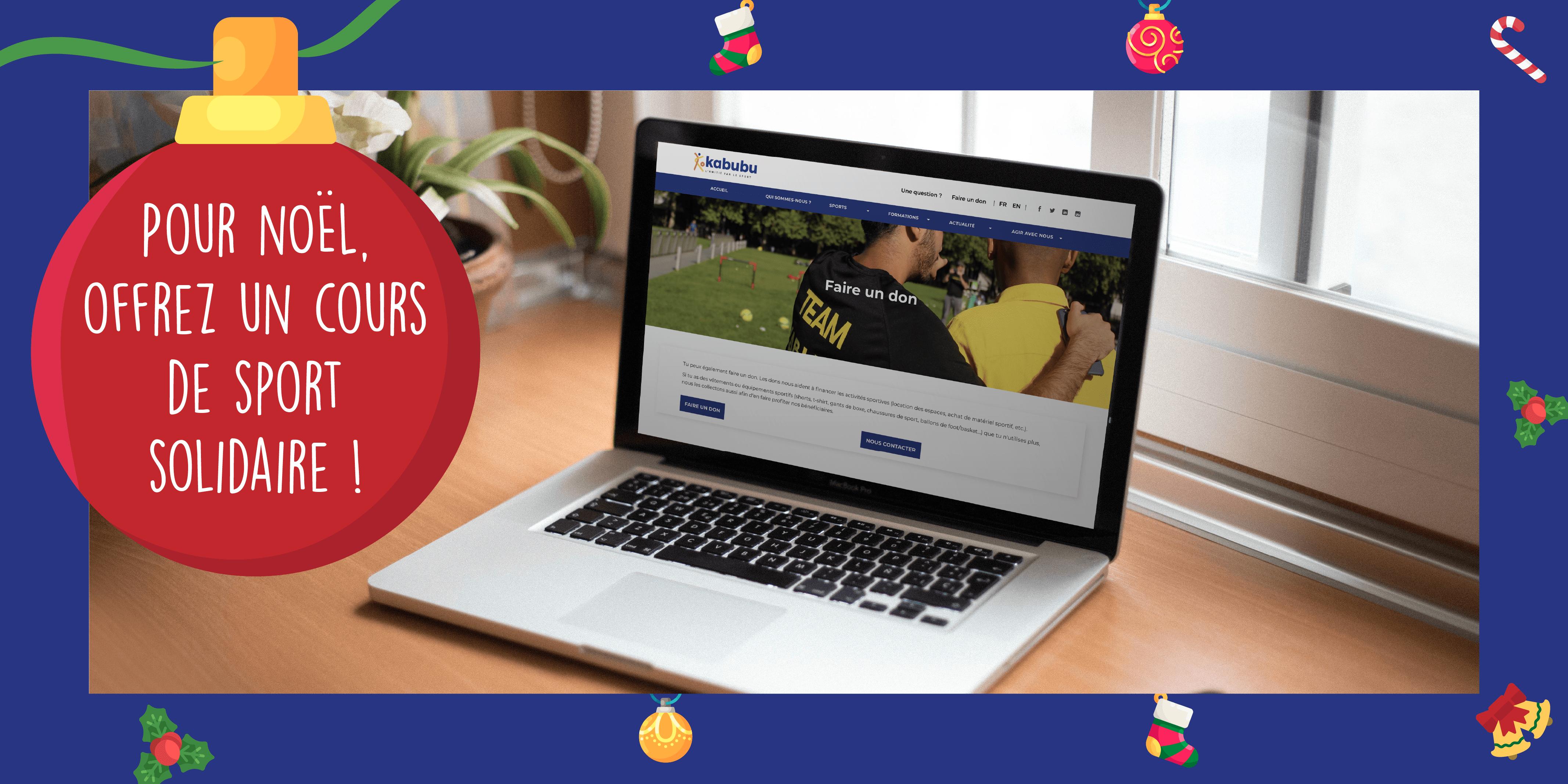 Pour Noël, offrez un cours de sport solidaire !