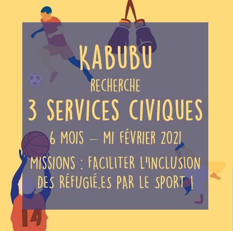 Kabubu recrute 3 services civiques !
